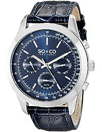 So y de Nueva York Monticello Co para hombre reloj infantil de cuarzo con azul esfera analógica y azul correa de piel 5006al, 3