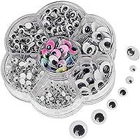 Autoadhesivo Ojos,700 piezas Googly Wiggle Eyes Wobbly Móviles Ojos para DIY Niños Manualidades Scrapbooking Accesorios Muñeca Hacer Juguetes Ojos Accesorios de juguete Tamaños surtidos