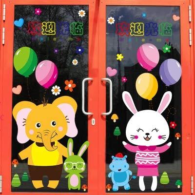3D Wandtattoo Wandtattoo Schlafzimmer Wandstickercartoon Wandaufkleber Kindergarten Kinderzimmer Wanddekoration Wasserdicht Doppelseitige Glasaufkleber Windows Paste M