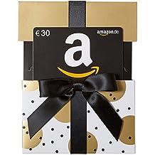 Amazon.de Geschenkgutschein in Geschenkschuber (Gold mit Punkten) - mit kostenloser Lieferung am nächsten Tag