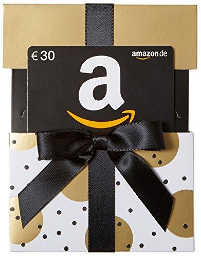 tschein in Geschenkschuber - 30 EUR (Gold mit Punkten) (Gifts.com Gutschein-code)