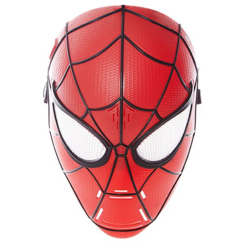 Spiderman Maske Kunststoff Karneval Parteien COS Spielen Sound Neutral Halloween The Avengers Geschenk,Red-28 * 20 * 15cm