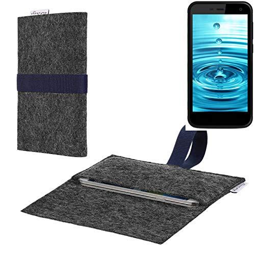 flat.design vegane Handy Hülle Aveiro für Energizer H500S passgenaue Filz Tasche Case Sleeve Made in Germany