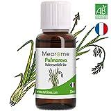 Huile essentielle de PALMAROSA BIO - 30 ml - 100% Pure et Naturelle, certifiée Biologique, HEBBD, HECT - Mearome, Qualité et Fabrication Française