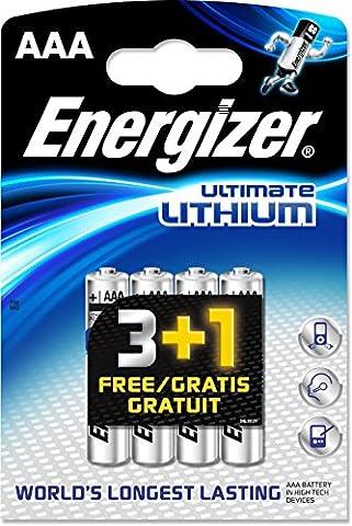 Piles Lithium Aaa - Energizer Ultimate Lithium Lot de 4 piles