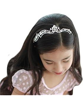 Accessori per Capelli Cerimonia Corona di Fiori Tiara Principessa Argento Nozze di Diamante
