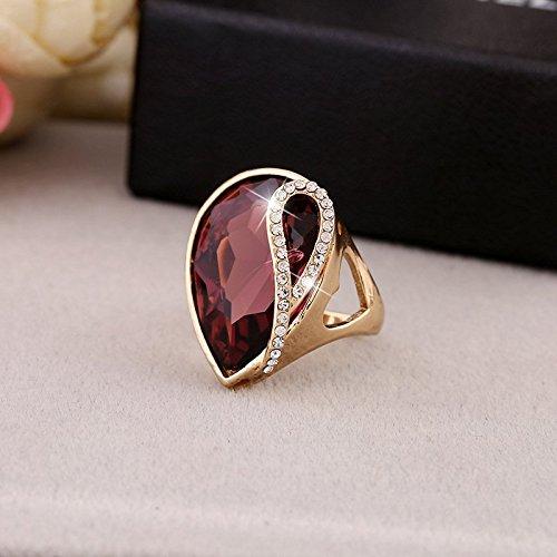 Klwkya europeo e americano oro grande cristallo a forma di goccia diamante squillare uomini e donne coppia di strass squillare accessori,purple,17