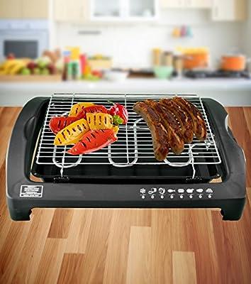 Praktischer Elektro-Tischgrill 2000 W Elektrogrill Barbecue Grill BBQ Tischgrill