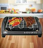 FRX Praktischer Elektro-Tischgrill 2000 W Elektrogrill Barbecue Grill BBQ Tischgrill (Schwarz)
