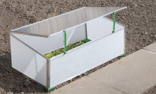 Gartentec Aufzucht Frühbeet Einfach 0,57 qm, 4 mm starke Hohlkammerplatten, Made in Germany