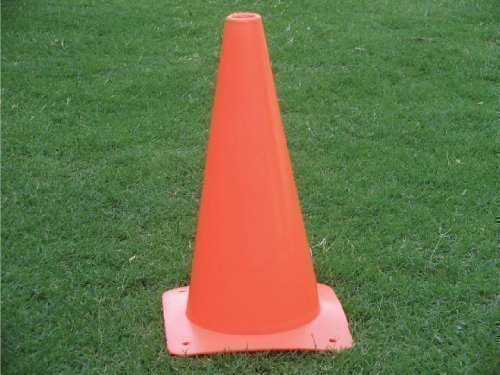 new-12-tall-traffic-warning-obstruction-cone-sports-boundary-marker-orange