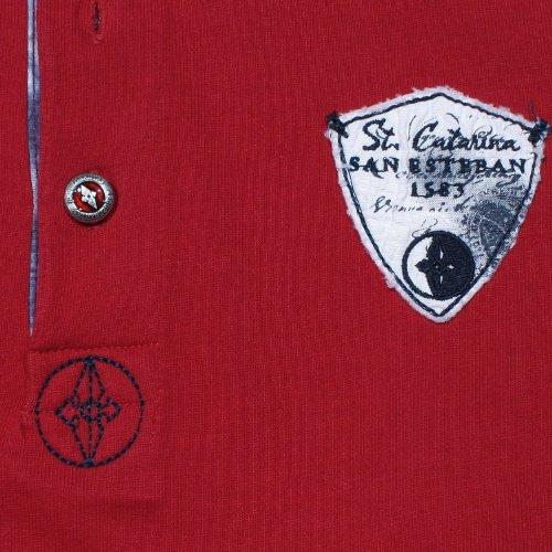 Arqueonautas, langarm Polohemd Poloshirt, 711204, campari [12874] Campari
