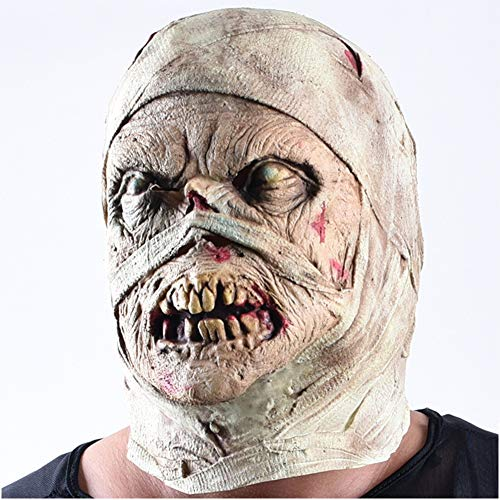 S+S Halloween Maske Adult Horror Scary Zombie Monster Gesichtsmaske Ghost Dry Corpse Mummy Maske Creepy Universal Party Kostüm Dekoration Requisiten (Die Halloween-kostüme Heißesten)