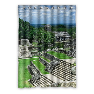 Dalliy coutume The city ruins Rideaux Window Curtain De Polyester 52