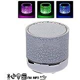 Altavoz Bluetooth con iluminación LED a todo color, Radio FM, reproduccion de la musica a través de USB, tarjeta microSD, o del Bluetooth.