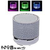 Silica dmt113white–Bluetooth Lautsprecher mit Licht LED Farbdisplay, weiß