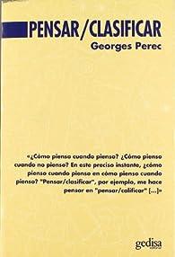 Pensar / clasificar par Georges Perec
