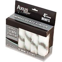Axus Décor Immaculate Finish Lot de 10 manchons pour rouleaux miniatures Gris