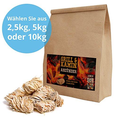 10 kg Bioanzünder, Grillanzünder, Holzwolle und Wachs (ca. 800Stück)