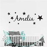 stickers muraux chambre fille ado Nom personnalisé étoiles garçons et filles de bricolage pour décoration de salle de jeux de chambres d'enfants