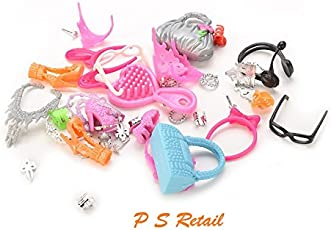 P S Retail Accessories Compatible with Barbie Doll, Multi Color (Plastic)