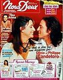NOUS DEUX [No 3173] du 22/04/2008 - OLIVIA ET PHILIPPE CANDELORO - TINA ARENA - MARIAGE CHEZ LES STARS - LES FRAISES - SANTES - JAMBES LOURDES - UN PROFESSEUR QUI ENSEIGNE LE BONHEUR - SPECIAL MARIAGE