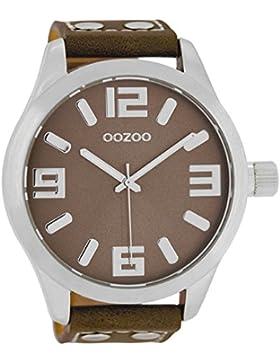 Oozoo Herrenuhr mit Lederband 51 MM Taupe/Taupe C1014