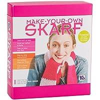 Auténtico Junta para Tejer Skarf Kit/Hilo, Color Rosa