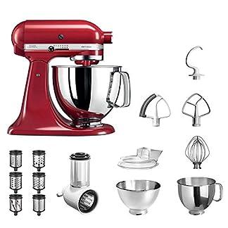 KitchenAid-Kchenmaschine-Artisan-5KSM175PS-Veggie-S-Paket-mit-TOP-Zubehr-Gemseschneider-mit-drei-Trommeln-sowie-zustzlichem-Raspel-und-Reibenpaket-mit-3-weiteren-Trommeln-Empire-Rot