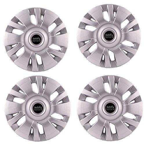 "Autofy 13"" 12 Spokes Snap-On Universal Wheel Cap Wheel Cover Hub Cap (Set of 4, Grey)"