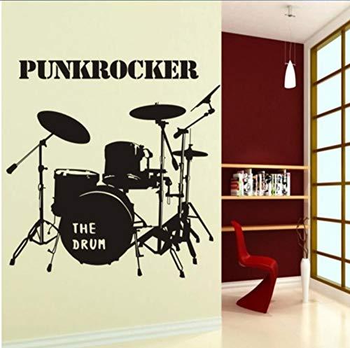 Schlagzeug Musikinstrumente Aufkleber Klassenzimmer Schlafzimmer Wandaufkleber Wohnzimmer Sofa Hintergrundbild Mode Dekoration, 125 Cm x 125 cm