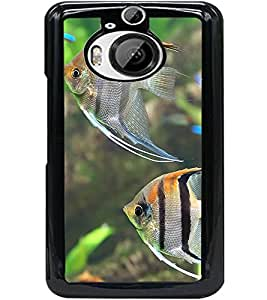 ColourCraft Lovely Fishes Design Back Case Cover for HTC ONE M9 PLUS