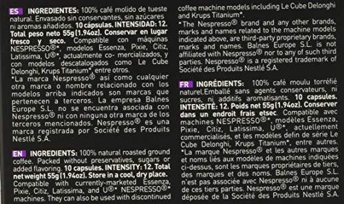 VIAGGIO ESPRESSO - 60 Cápsulas de Café Compatibles con Máquinas Nespresso - INTENSO