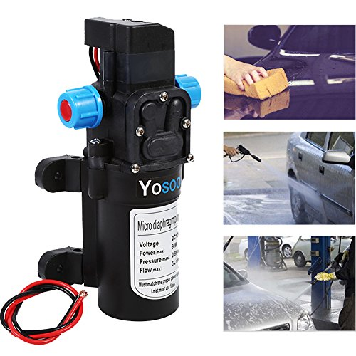 hoher Druck Wasser Pumpe, 12 V DC Druckschalter Control Valve Automatic Diaphragm selbstansaugend Wasser Pumpe 5Lpm 60 W für Wohnmobil-CARAVAN Boot Auto (Wasser-pumpen 12v)