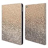 Head Case Designs Offizielle Monika Strigel Schimmernd Glitzer und Gold Sammlung Brieftasche Handyhülle aus Leder für iPad Air 2 (2014)
