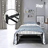 Aingoo Full Metal Single Bed Frame Platform Bed Frame with Strong Metal Slats for Children and Adults, Black