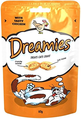 dreamies Gatos de fuga erli con Tasty Chicken (60 g) – Paquete con 6