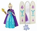 Disney Eiskönigin Elasa mit Spiegel - Frozen Puppe mit Clipmoden und Ring