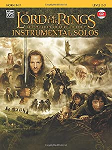 The Lord of the Rings Instrumental Solos: Horn in F (book and CD): French Horn