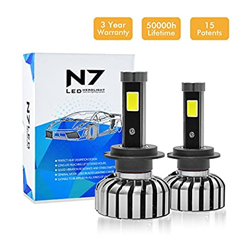 Honesteast Car LED Headlight Kit,Auto LED Headlight Bulbs LED Replacement Headlamps Set (N7,WaterProof ,2 Pcs)
