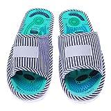 1 Pair of Massager Slippers,Health Reflexology Nature Stone Massager Shoes Unisex