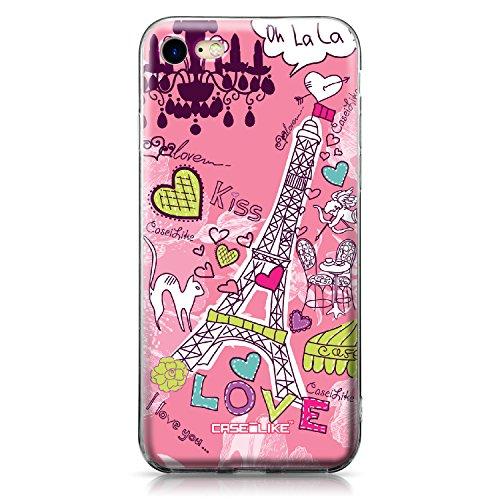 CASEiLIKE Coque iPhone 7 , Ultra Mince Crystal Case TPU Silicone Clair Transparente Exact Fit Soft Housse Etui Coque Pour iPhone 7 Paris vacances 3905