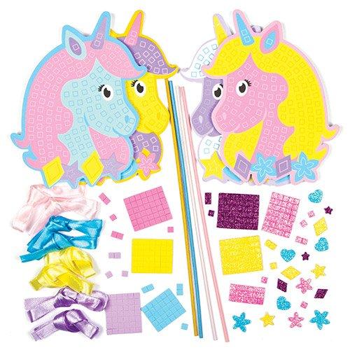Kits-de-Baguettes-Magiques-Licornes-Arc-en-ciel-en-mosaque-que-les-Enfants-pourront-Dcorer-et-Personnaliser-Lot-de-4