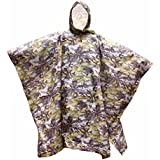 HOPESOOKY 3 in 1 Forest Waterproof Rain Poncho Raincoat Tent Rip-Stop Army Hooded for Hunting ...