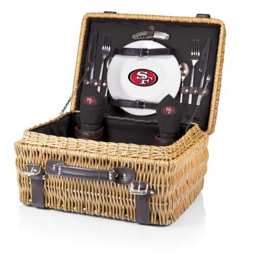 NFL San Francisco 49ers Champion Picknick Korb mit Deluxe Service für Zwei, Schwarz