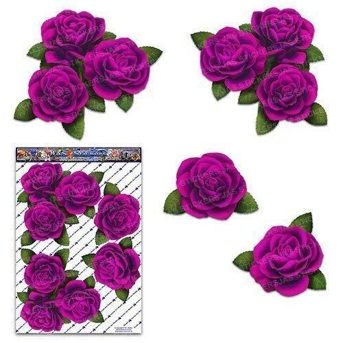 Rosa Rosen-Blumen-große -Satz-Abziehbild-Auto-Aufkleber - ST00066PK_LGE - JAS Aufkleber