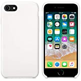 Funda para iPhone 7/8 Carcasa Silicona Suave Colores del Caramelo con Superfino Pelusa Forro,Anti-rasguños Teléfono Caso para Apple iPhone 7/8 (iPhone 7/8, Blanco)