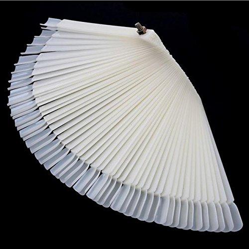 Doitsa Display Nagel Farbe Palette Make-up Nagellack Farbe Fan Form 50pcs Sticks transparent Nagel...