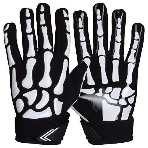 Prostyle Skeleton American Football Receiver Handschuhe - weiß Gr. L