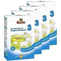 Holle Bio Folgemilch 3, auf Ziegenmilchbasis, 4er Pack (4 x 400g)